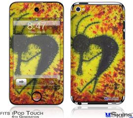 iPod Touch 4G Decal Style Vinyl Skin - Tie Dye Kokopelli