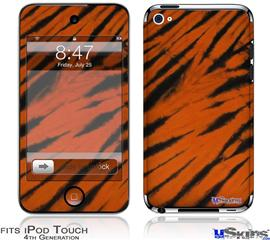 iPod Touch 4G Decal Style Vinyl Skin - Tie Dye Bengal Side Stripes