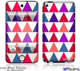 iPod Touch 4G Decal Style Vinyl Skin - Triangles Berries