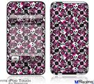 iPod Touch 4G Decal Style Vinyl Skin - Splatter Girly Skull Pink