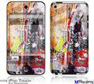 iPod Touch 4G Decal Style Vinyl Skin - Abstract Graffiti