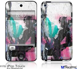 iPod Touch 4G Decal Style Vinyl Skin - Graffiti Grunge