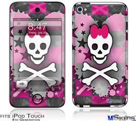 iPod Touch 4G Decal Style Vinyl Skin - Princess Skull Heart