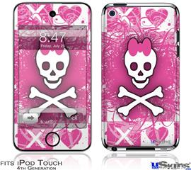 iPod Touch 4G Decal Style Vinyl Skin - Princess Skull