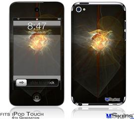 iPod Touch 4G Decal Style Vinyl Skin - Fireball
