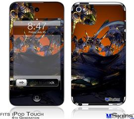 iPod Touch 4G Decal Style Vinyl Skin - Alien Tech