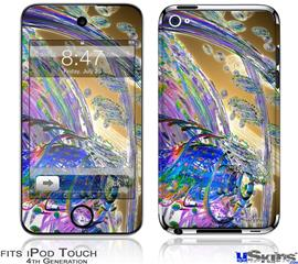 iPod Touch 4G Decal Style Vinyl Skin - Vortices