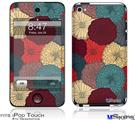 iPod Touch 4G Decal Style Vinyl Skin - Flowers Pattern 04