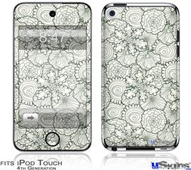 iPod Touch 4G Decal Style Vinyl Skin - Flowers Pattern 05