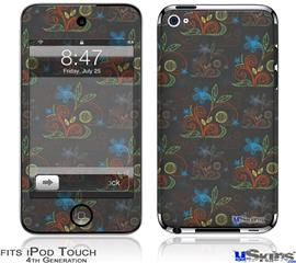 iPod Touch 4G Decal Style Vinyl Skin - Flowers Pattern 07