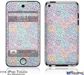 iPod Touch 4G Decal Style Vinyl Skin - Flowers Pattern 08