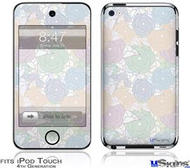 iPod Touch 4G Decal Style Vinyl Skin - Flowers Pattern 10