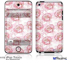 iPod Touch 4G Decal Style Vinyl Skin - Flowers Pattern Roses 13