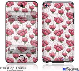 iPod Touch 4G Decal Style Vinyl Skin - Flowers Pattern 16