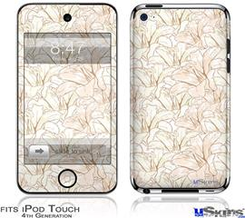 iPod Touch 4G Decal Style Vinyl Skin - Flowers Pattern 17