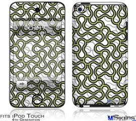 iPod Touch 4G Decal Style Vinyl Skin - Locknodes 01 Sage Green