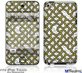 iPod Touch 4G Decal Style Vinyl Skin - Locknodes 01 Yellow