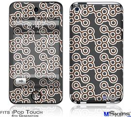 iPod Touch 4G Decal Style Vinyl Skin - Locknodes 02 Chocolate Brown