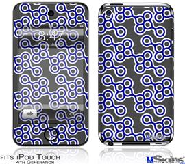 iPod Touch 4G Decal Style Vinyl Skin - Locknodes 02 Royal Blue