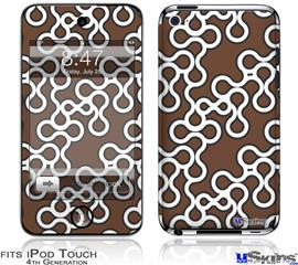iPod Touch 4G Decal Style Vinyl Skin - Locknodes 03 Chocolate Brown
