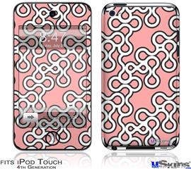 iPod Touch 4G Decal Style Vinyl Skin - Locknodes 03 Pink