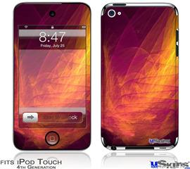 iPod Touch 4G Decal Style Vinyl Skin - Eruption