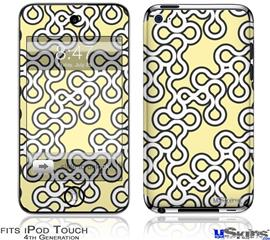iPod Touch 4G Decal Style Vinyl Skin - Locknodes 03 Yellow Sunshine