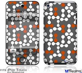 iPod Touch 4G Decal Style Vinyl Skin - Locknodes 04 Burnt Orange