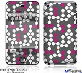iPod Touch 4G Decal Style Vinyl Skin - Locknodes 04 Hot Pink (Fuchsia)