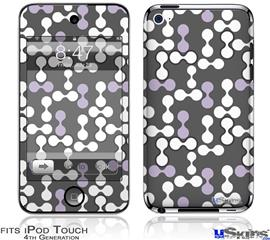 iPod Touch 4G Decal Style Vinyl Skin - Locknodes 04 Lavender