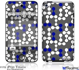 iPod Touch 4G Decal Style Vinyl Skin - Locknodes 04 Royal Blue