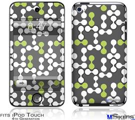 iPod Touch 4G Decal Style Vinyl Skin - Locknodes 04 Sage Green