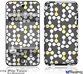 iPod Touch 4G Decal Style Vinyl Skin - Locknodes 04 Yellow Sunshine