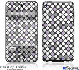 iPod Touch 4G Decal Style Vinyl Skin - Locknodes 05 Lavender
