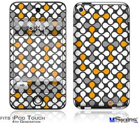 iPod Touch 4G Decal Style Vinyl Skin - Locknodes 05 Orange
