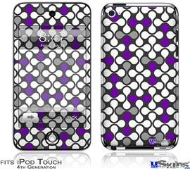 iPod Touch 4G Decal Style Vinyl Skin - Locknodes 05 Purple