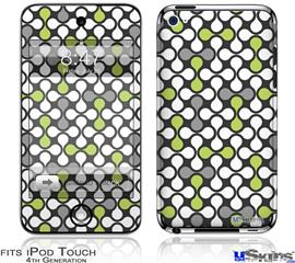 iPod Touch 4G Decal Style Vinyl Skin - Locknodes 05 Sage Green