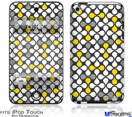 iPod Touch 4G Decal Style Vinyl Skin - Locknodes 05 Yellow