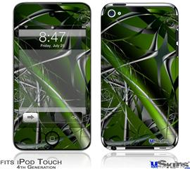 iPod Touch 4G Decal Style Vinyl Skin - Haphazard Connectivity