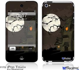 iPod Touch 4G Decal Style Vinyl Skin - Halloween Haunted House