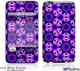 iPod Touch 4G Decal Style Vinyl Skin - Daisies Purple