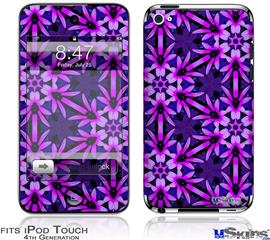iPod Touch 4G Decal Style Vinyl Skin - Daisy Pink