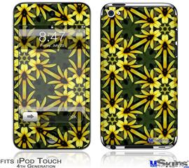 iPod Touch 4G Decal Style Vinyl Skin - Daisy Yellow