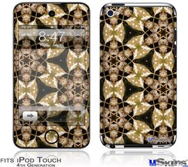 iPod Touch 4G Decal Style Vinyl Skin - Leave Pattern 1 Brown