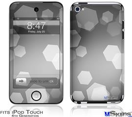 iPod Touch 4G Decal Style Vinyl Skin - Bokeh Hex Grey