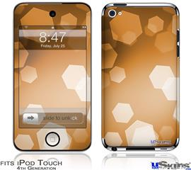 iPod Touch 4G Decal Style Vinyl Skin - Bokeh Hex Orange
