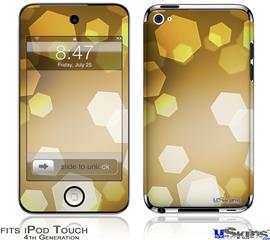 iPod Touch 4G Decal Style Vinyl Skin - Bokeh Hex Yellow