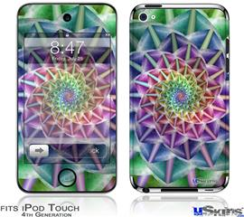 iPod Touch 4G Decal Style Vinyl Skin - Spiral
