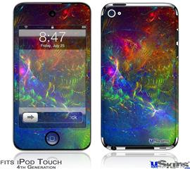 iPod Touch 4G Decal Style Vinyl Skin - Fireworks