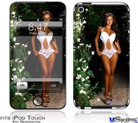 iPod Touch 4G Decal Style Vinyl Skin - Whitney Jene White Lace